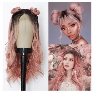"""24"""" Rose Gold Wig Ombre"""